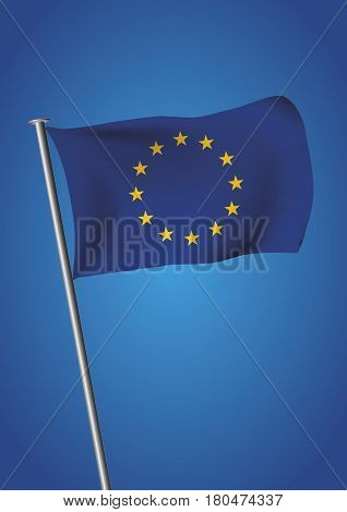 European Union Flag With Twelve Stars Before Brexit
