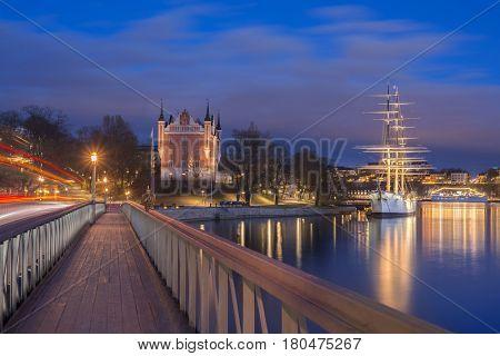 Stockholm, Sweden city at dusk