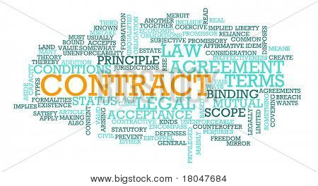 Contract for Business Law on Terms of Agreement poster