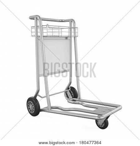 Airport Luggage Cart isolated on white background. 3D render