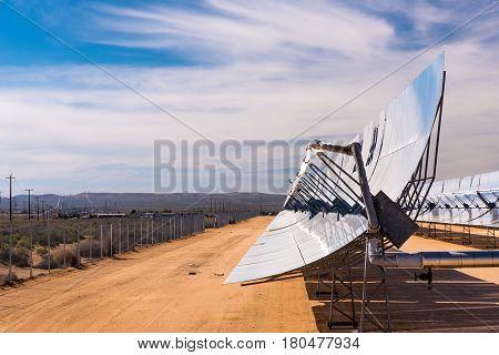 Solar Powered Heat Generators In Desert