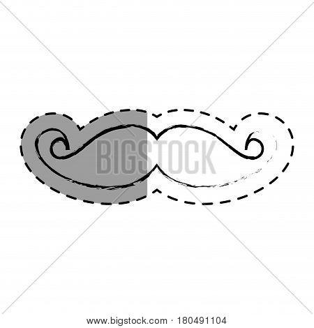mustache accessory isolated icon vector illustration design
