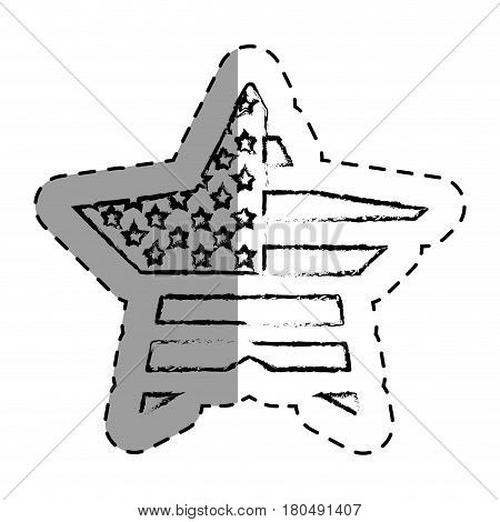 united states of america star vector illustration design