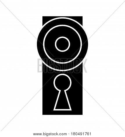 Dooe Knob, Handle Silhouette Vector Symbol Icon Design.