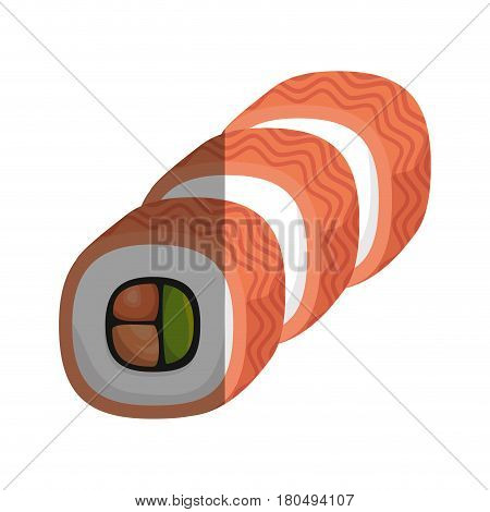 sushi japanese food icon vector illustration design