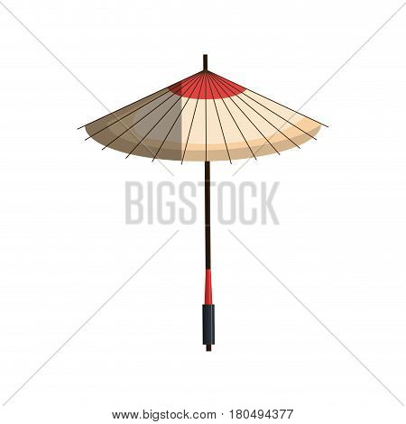 japanese umbrella isolated icon vector illustration design