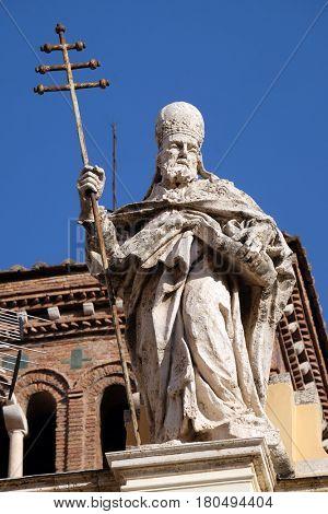 ROME, ITALY - SEPTEMBER 03: Saint Sylvester, Basilica of Saint Sylvester the First (San Silvestro in Capite) in Rome, Italy on September 03, 2016.