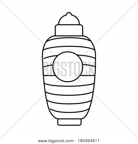 japanese classic lamp icon vector illustration design