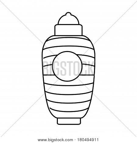 japanese classic lamp icon vector illustration design