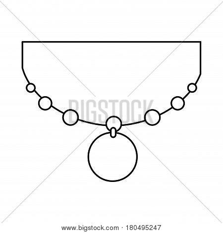 elegant female necklace icon vector illustration design