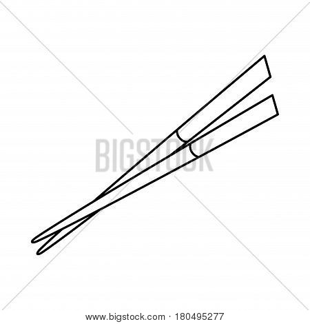 chopstick japanese cutlery icon vector illustration design