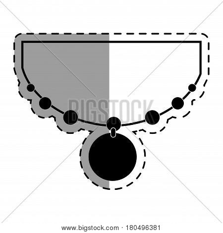 elegant female necklace ison vector illustration design
