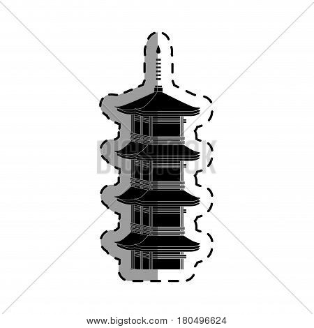 castle japanese building icon vector illustration design