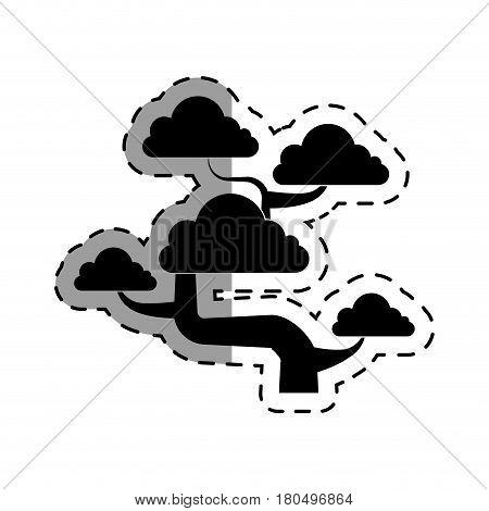 cute bonsai tree icon vector illustration design