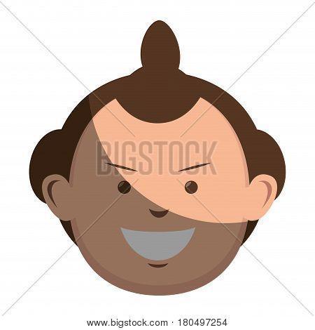 Sumo wrestler avatar character vector illustration design