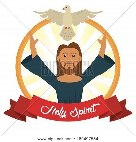 jesus christ holy spirit faith concept vector illustration eps 10