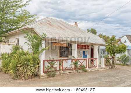 NIEU BETHESDA SOUTH AFRICA - MARCH 21 2017: A restaurant and postal agency in Nieu-Bethesda an historic village in the Eastern Cape Province