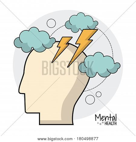 mental health brain storm ideas vector illustration eps 10