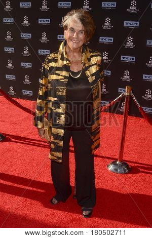 LOS ANGELES - APR 6:  Sara Karloff at the 2017 TCM Classic Film Festival Opening Night Red Carpet at the TCL Chinese Theater IMAX on April 6, 2017 in Los Angeles, CA