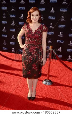 LOS ANGELES - APR 6:  Alicia Malone at the 2017 TCM Classic Film Festival Opening Night Red Carpet at the TCL Chinese Theater IMAX on April 6, 2017 in Los Angeles, CA