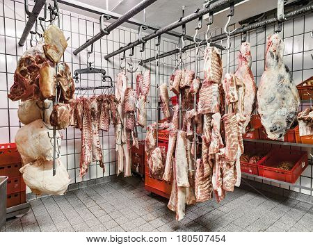 Meat In A Cold Storage House