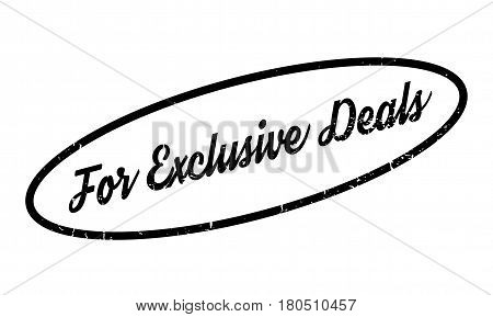 For Exclusive Deals rubber stamp. Grunge design with dust scratches. Effects can be easily removed for a clean, crisp look. Color is easily changed.