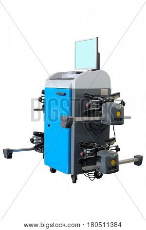 tyre fitting machine isolated