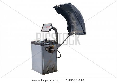 tyre fitting machines isolated