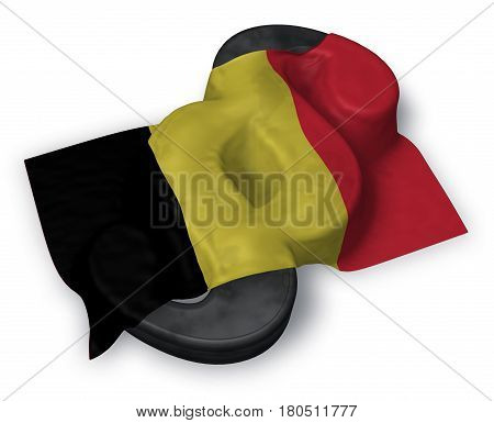paragraph symbol and belgian flag - 3d rendering