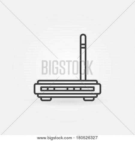 Wireless router icon - vector wi-fi modem concept sign or logo element in thin line style