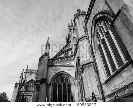 St Mary Redcliffe In Bristol In Black And White