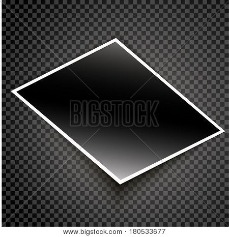 Realistic photo card vector illustraton on isolated background