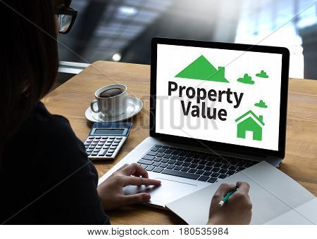 Businessman Property Value , Real Estate Property Value And  How Much Is Your Property Worth?