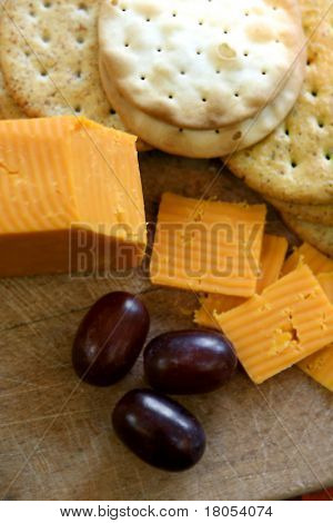 Cheese and biscuit, shallow DOF