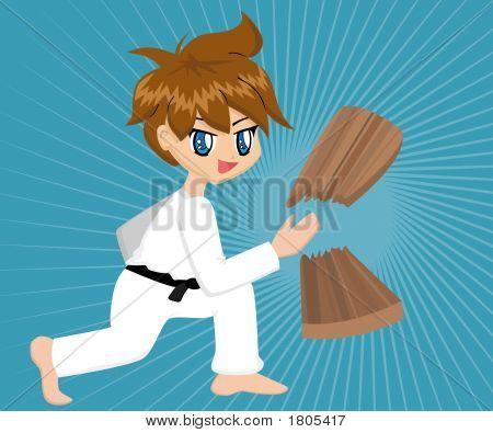 Cartoon Karate Boy