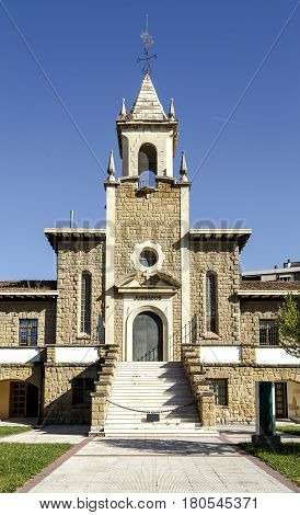 Paternina Cid palace former home cradle now rehabilitated and guzgados bus station in Haro La Rioja. Spain