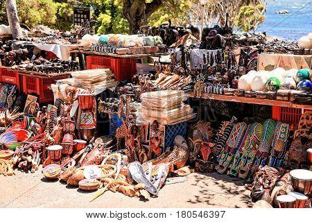 Souvenir shop on a street near Boulders Beach South Africa 18.january 2013