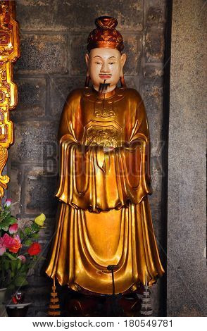 Interior Of The Bich Dong Pagoda, Ninh Binh, Vietnam