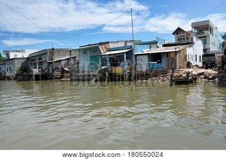 Shack Home, House In Mekong Delta, Vietnam