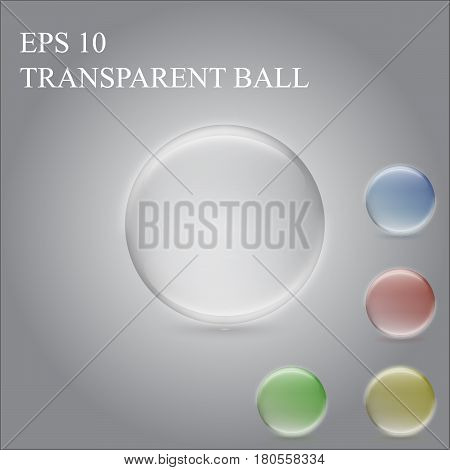 Big transparent and colored ball, nice spheres.