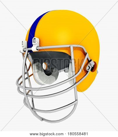 Computer generated 3D illustration with a football helmet isolated on white background
