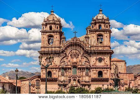 Church of the Society of Jesus one of the main cathedrals of Cuzco Peru