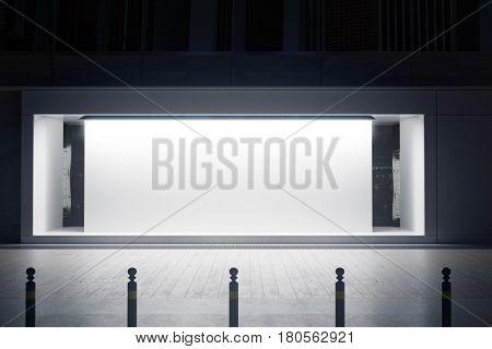 Shopfront With White Canvas