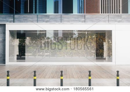 Empty Glass Storefront