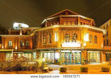 Brewery pub in Wuppertal Barmen NRW Germany. February 2017.