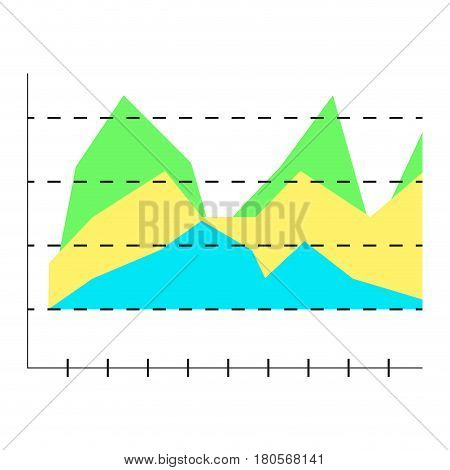 Layer chart vector. Business graph layer graphic illustration