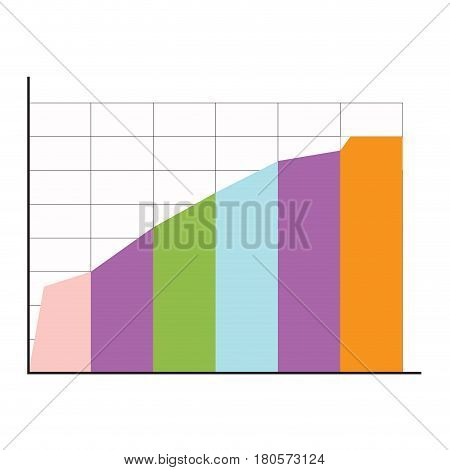 Info chart layers. Economic annual infomation about marketing vector illustration