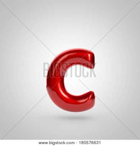 Metallic Paint Red Letter C Lowercase