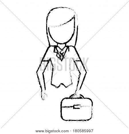 sketchy woman female faceless design vector illustration eps 10