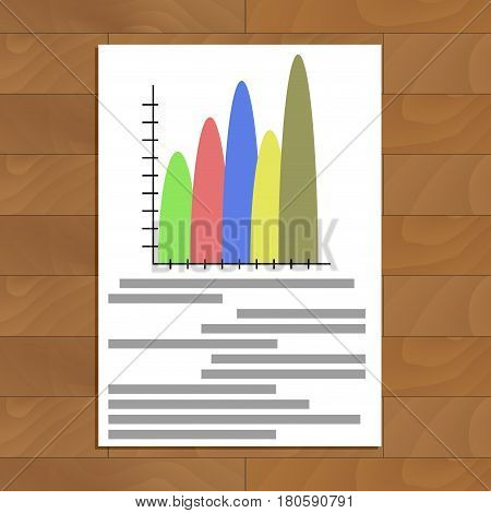 Info graphic element template. Report profit economic document with info data. Vector illustration